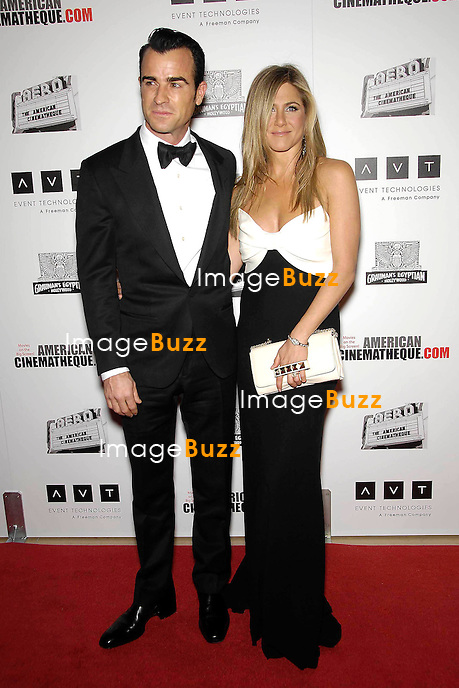 Justin Theroux, Jennifer Aniston, The 26th American Cinematheque Award Gala honoring Ben Stiller at The Beverly Hilton Hotel in Beverly Hills. Los Angeles, November 15, 2012.