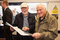 Pleased with the proposed plans are station volunteers Peter Smith (left) and Trevor Cotton