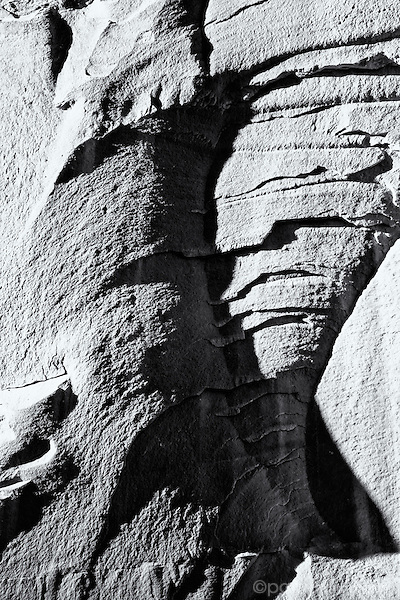 Study of abstraction using canyon wall in a large wash canyon.