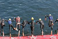 30 JUN 2007 - COPENHAGEN, DEN - Junior mens swimstart at the European Triathlon Championships. (PHOTO (C) NIGEL FARROW)