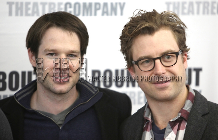 Kieran Campion & Lucas Near-Verbrugghe.attending the Meet & Greet for the Roundabout Theatre Company's Off-Broadway Production of 'The Common Pursuit' at their Rehearsal Studios in New York on 4/6/2012.
