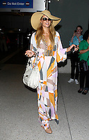 Paris Hilton arriving at the Los Angeles International airport
