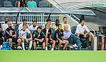 Stockholm 2014-07-28 Fotboll Superettan Hammarby IF - Assyriska FF :  <br /> Hammarbys tr&auml;nare Nanne Bergstrand ser nedst&auml;md ut p&aring; Hammarbys avbytarb&auml;nk tillsammans med utbytta spelarna Fredrik Torsteinb&ouml; Torsteinb&oslash; (n&auml;st l&auml;ngst till v&auml;nster) , Pablo Pinones-Arce (mitten &ouml;versta raden) och Nahir Besara (trea fr&aring;n h&ouml;ger &ouml;versta raden)<br /> (Foto: Kenta J&ouml;nsson) Nyckelord:  Superettan Tele2 Arena Hammarby HIF Bajen Assyriska AFF depp besviken besvikelse sorg ledsen deppig nedst&auml;md uppgiven sad disappointment disappointed dejected