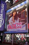 Times Square Billboard as Nicolette Robinson makes her Broadway debut in 'Waitress' on September 4, 2081 at the Brooks Atkinson Theatre in New York City.