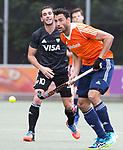 DEN HAAG - Glenn Schuurman tijdens de trainingswedstrijd Nederland-Argentinie (1-2). COPYRIGHT KOEN SUYK