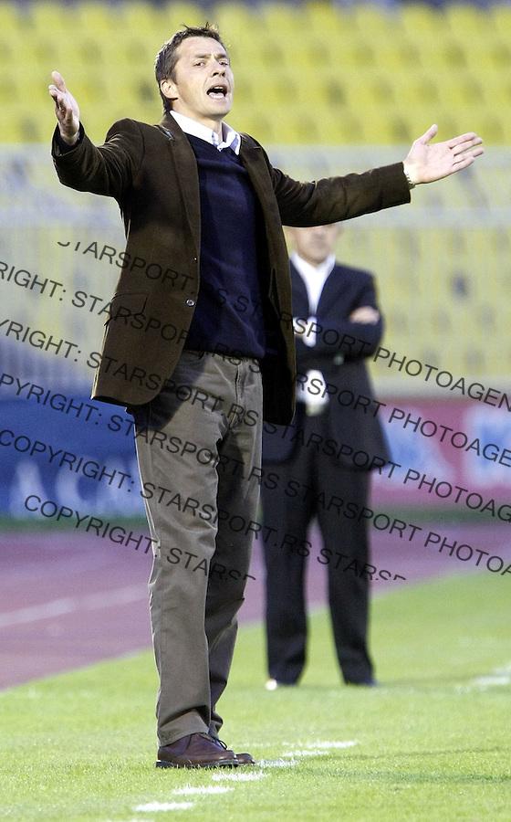 Fudbal, season 2007/08.Partizan Vs. Banat.head coach Slavisa Jokanovic.Beograd, 10.05.2008..foto: Srdjan Stevanovic