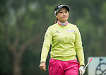 Han Sol Ji of South Korea plays at the 18th hole during Round 2 of the World Ladies Championship 2016 on 12 March 2016 at Mission Hills Olazabal Golf Course in Dongguan, China. Photo by Victor Fraile / Power Sport Images
