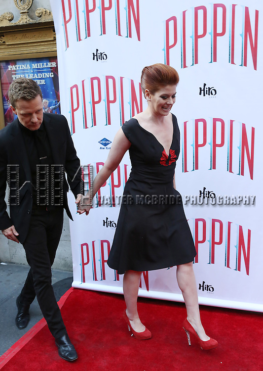 Will Chase & Debra Messing  attending the  Broadway Opening Night Performance of 'Pippin' at the Music Box Theatre in New York City on 4/25/2013