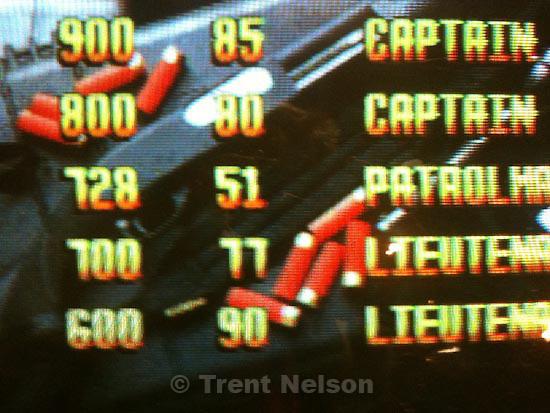 . Friday, October 30 2009.weber state. lethal enforcers videogame. high scores