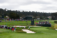 A long shot of the green on 8 during round 1 of the 2019 US Open, Pebble Beach Golf Links, Monterrey, California, USA. 6/13/2019.<br /> Picture: Golffile | Ken Murray<br /> <br /> All photo usage must carry mandatory copyright credit (© Golffile | Ken Murray)
