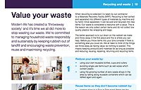 BNPS.co.uk (01202 558833)<br /> Pic: BCPCouncil/BNPS<br /> <br /> PICTURED: The most recent edition carries an article headlined 'Value Your Waste' that tells residents 'it's time we all did more to stop wasting our waste.'<br /> <br /> A council that recently declared a 'climate emergency' has been left red-faced after thousands of copies of their own magazine were found dumped at a waste facility.<br /> <br /> The quarterly magazine is meant to have been delivered to over 180,000 households in the Bournemouth, Christchurch and Poole area of Dorset.<br /> <br /> The most recent edition carries an article headlined 'Value Your Waste' that tells residents 'it's time we all did more to stop wasting our waste.'<br /> <br /> Another article in BCP News states how the local authority has pledged go 'carbon neutral by 2030' by announcing a climate emergency.<br /> <br /> The council, that prints the magazines in Blackpool, Lancs, from where they are driven 300 miles to the south coast, also recently announced it to hire a 'Zero Carbon Support Officer' on a salary of £35,000 a year.