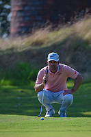 Paul Casey (GBR) lines up his putt on 1 during round 4 of the WGC FedEx St. Jude Invitational, TPC Southwind, Memphis, Tennessee, USA. 7/28/2019.<br /> Picture Ken Murray / Golffile.ie<br /> <br /> All photo usage must carry mandatory copyright credit (© Golffile | Ken Murray)