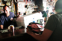 At Molly's, one of the few bars open in the city of New Orleans on September 17, 2005.