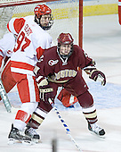 Matt Gilroy, Matt Greene - The Boston College Eagles defeated the Boston University Terriers 5-0 on Saturday, March 25, 2006, in the Northeast Regional Final at the DCU Center in Worcester, MA.