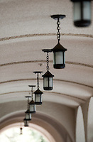 Detail, lights, Branca Patio, 2009. (Photo by Marc Campos, Occidental College Photographer)