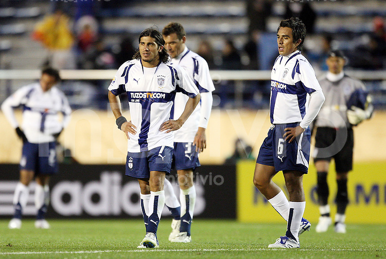 Fussball International FIFA Club WM Japan 2007     09.12.2007 Etoile Sportive du Sahel - Pachuca Damian Alvarez (P, li), Julio Manzur (P, mi), Jaime Correa (P, re)
