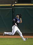 Reno Aces' Todd Glaesmann makes a catch at Greater Nevada Field, in Reno, Nev., on Wednesday, Aug. 10, 2016.  <br /> Photo by Cathleen Allison