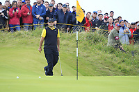 Patrick Reed (USA) during 1st round of the 148th Open Championship, Royal Portrush golf club, Portrush, Antrim, Northern Ireland. 18/07/2019.<br /> Picture Thos Caffrey / Golffile.ie<br /> <br /> All photo usage must carry mandatory copyright credit (© Golffile | Thos Caffrey)