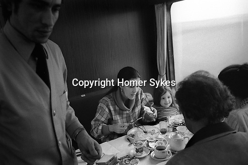 Rita Coolridge and daughter Casey 1978 having breakfast on a train travelling from West Berlin through East Germany to the West where she and her husband Kris Kristofferson were giving a series of concerts. Other at the breakfast were staff travelling with her and Casey.