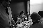 Rita Coolidge and daughter Casey 1978 having breakfast on a train travelling from West Berlin through East Germany to the West where she and her husband Kris Kristofferson were giving a series of concerts. Other at the breakfast were staff travelling with her and Casey.