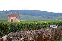 vineyard hut road sign beaune cote de beaune burgundy france