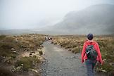 NEW ZEALAND, Tongariro National Park, Starting the Tongariro Alpine Crossing, Ben M Thomas