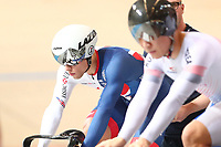Picture by SWpix.com - 02/03/2018 - Cycling - 2018 UCI Track Cycling World Championships, Day 3 - Omnisport, Apeldoorn, Netherlands - Men's Sprint 1/16 - Im Chain of Korea and Ryan Owens of Great Britain