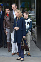 Princess Elena, Inaki Urdangarin, Princess Cristina and Juan Pablo Urdangarin visit King Juan Carlos of Spain at Quiron Hospital in Madrid. November 25 , 2012. (ALTERPHOTOS/Caro Marin) /NortePhoto