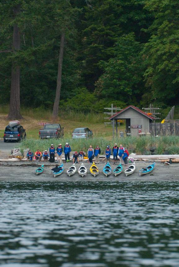 Kayak Tour Operator Launches Trip from San Juan County Park, San Juan Island, Washington, US