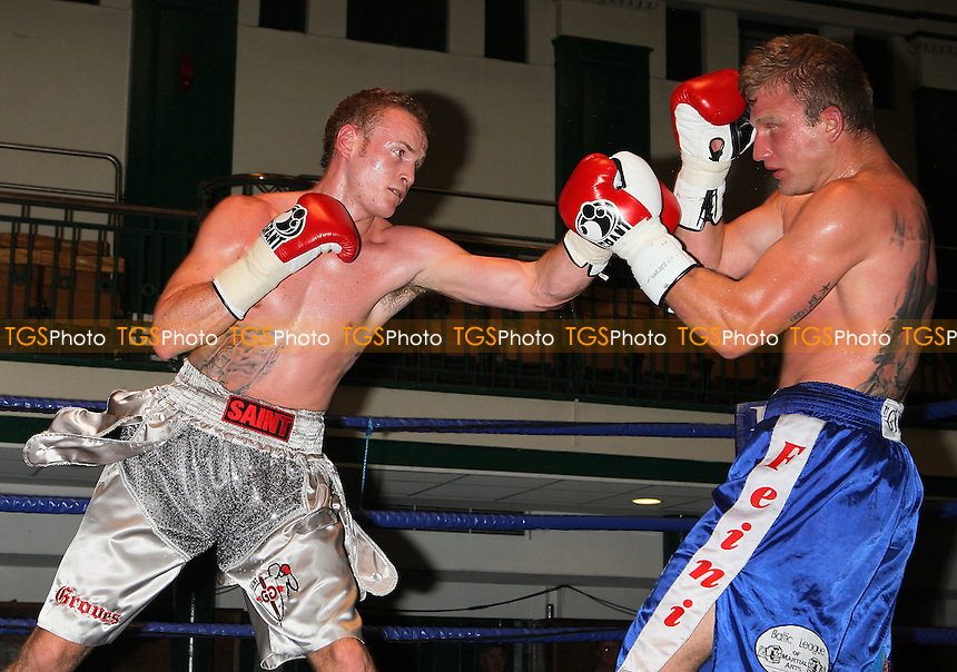 George Groves (silver shorts) defeats Martin Kukuls in a Super-Middleweight Boxing contest at York Hall, Bethnal Green, promoted by Hayemaker Promotions / David Haye - 04/10/09 - MANDATORY CREDIT: Gavin Ellis/TGSPHOTO - Self billing applies where appropriate - Tel: 0845 094 6026