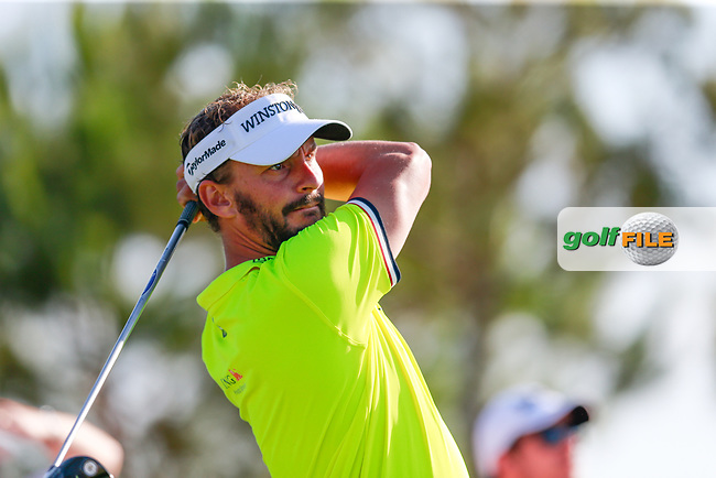 Joost Luiten (NED) on the 15th tee during the 1st round of the 2017 Portugal Masters, Dom Pedro Victoria Golf Course, Vilamoura, Portugal. 21/09/2017<br /> Picture: Fran Caffrey / Golffile<br /> <br /> All photo usage must carry mandatory copyright credit (&copy; Golffile | Fran Caffrey)