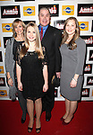 Merwin Foard with wife Rebecca Baxter & daughters  attending the Broadway Opening Night Performance After Party for 'Annie' at the Hard Rock Cafe in New York City on 11/08/2012