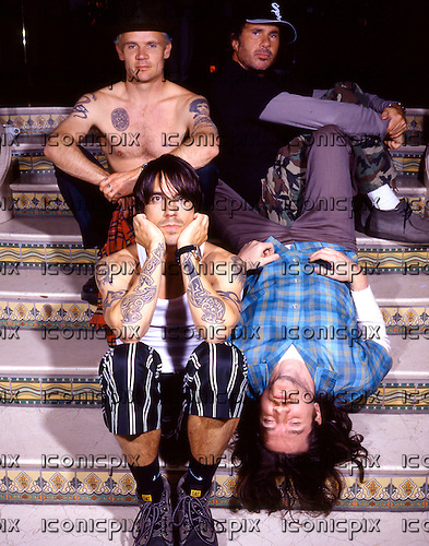Red Hot Chili Peppers taking time out from the By The Way Tour in Santa Monica California - July 2002.  Photo by: Tony Woolliscroft