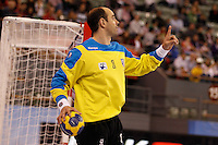 25.03.2012 MADRID, SPAIN -  EHF Champions League match played between BM At. Madrid vs Kadetten Schaffhausen (26-30) at Palacio Vistalegre stadium. the picture show Jose Javier Hombrados (BM Atletico de Madrid)