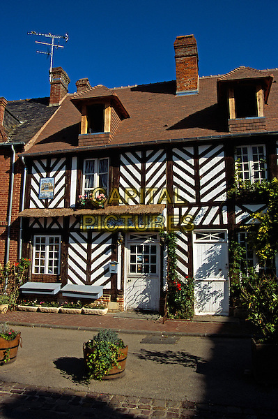 Typical house, Beuvron-en-Auge, Normandy, France