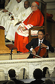 Boston, MA - August 29, 2009 -- Cellist Yo-Yo Ma preforms at Our Lady of Perpetual Help Catholic Church in Boston, Massachusetts, USA for the funeral Mass for Kennedy 29 August 2009. Senator Edward Kennedy, 77, died 25 August 2009 after a battle with brain cancer.  .Credit: CJ  Gunther - Pool via CNP