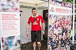 HSBC Ambassador Brian O'Driscoll records its good luck message at the video booth in the Sevens Village during the HSBC Hong Kong Rugby Sevens 2016 on 07 April 2016 at Hong Kong Stadium in Hong Kong, China. Photo by Kitmin Lee / Power Sport Images