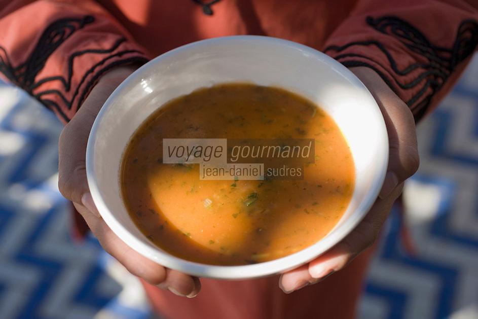 Afrique/Afrique du Nord/Maroc/Rabat: Hotel - Maison d'Hote Villa Mandarine - la soupe Harira