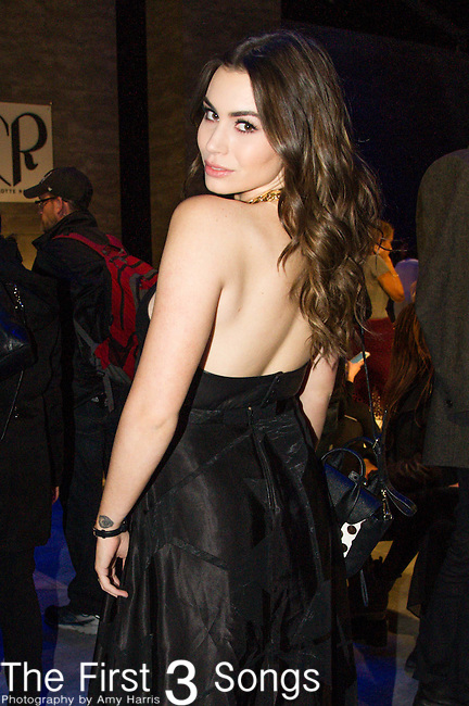 Sophie Tweed-Simmons at the Charlotte Ronson fashion show during Mercedes-Benz Fashion Week Fall 2015 at The Pavilion at Lincoln Center in New York City.
