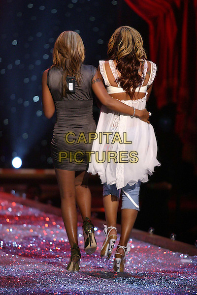 MARY J. BLIGE & EVE.9th Annual Victoria's Secret Fashion Show Inside.Lexington Avenue Armory.catwalk, performing, ruched, back, behind, rear, singing, music, full length, full-length.www.capitalpictures.com.sales@capitalpictures.com.©Capital Pictures