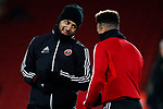Lys Mousset and Callum Robinson of Sheffield United during the Premier League match at Bramall Lane, Sheffield. Picture date: 5th December 2019. Picture credit should read: James Wilson/Sportimage