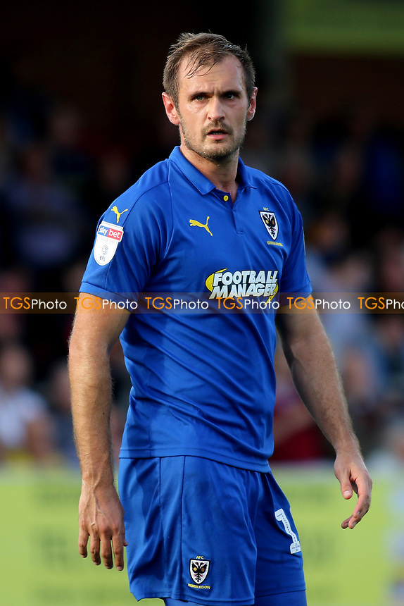 James Hanson of AFC Wimbledon during AFC Wimbledon vs Portsmouth, Sky Bet EFL League 1 Football at the Cherry Red Records Stadium on 13th October 2018