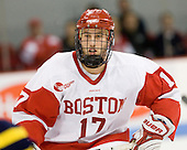 Victor Saponari (BU - 17) - The Boston University Terriers defeated the Merrimack College Warriors 6-4 on Saturday, November 14, 2009, at Agganis Arena in Boston, Massachusetts.