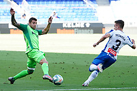 5th July 2020; RCDE Stadium, Barcelona, Catalonia, Spain; La Liga Football, Real Club Deportiu Espanyol de Barcelona versus Leganes; Guerrero of Leganes holds the ball away from the challenge from Pedrosa