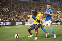 actionn photo during the match Brazil vs Ecuador, Corresponding Group -B- America Cup Centenary 2016, at Rose Bowl Stadium<br /> <br /> Foto de accion durante el partido Brasil vs Ecuador, Correspondiante al Grupo -B-  de la Copa America Centenario USA 2016 en el Estadio Rose Bowl, en la foto: (i-d) Juan Carlos Paredes de Ecuador y Jonas de Brasil<br /> <br /> <br /> 04/06/2016/MEXSPORT/Omar Martinez.