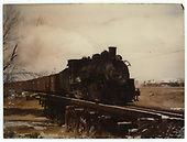 3/4 engineer side view of K-37 #492 on trestle hauling freight.<br /> D&amp;RGW