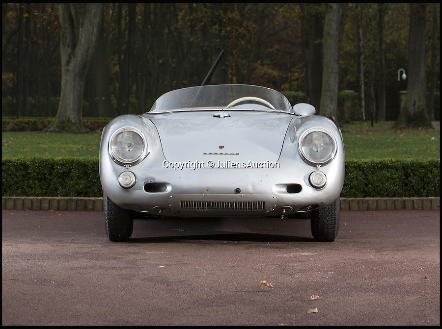 BNPS.co.uk (01202 558833)<br /> Pic: JuliensAuction/BNPS<br /> <br /> Touch of Hollywood magic - if you have a spare £6.2 million.<br /> <br /> An exceptionally rare 'James Dean' Porsche could smash the world record price for the famous marque at the Goodwood Revival auction next  month.<br /> <br /> The completely original 1956 550RS Spyder has never been restored and is in the same condition as when it was built 60 years ago.<br /> <br /> Only 90 of the exclusive models were made and they are recognised as one of the most collectible cars in the world. <br /> <br /> The sports car is perhaps best known as the model that James Dean was driving when he died in 1955.
