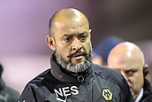 4th December 2017, St. Andrews Stadium, Birmingham, England; EFL Championship football, Birmingham City versus Wolverhampton Wanderers; Nuno Manager of Wolverhampton Wanderers walking to the dugout before the game