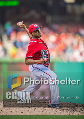 8 June 2013: Washington Nationals pitcher Fernando Abad on the mound against the Minnesota Twins at Nationals Park in Washington, DC. The Twins edged out the Nationals 4-3 in 11 innings. Mandatory Credit: Ed Wolfstein Photo *** RAW (NEF) Image File Available ***