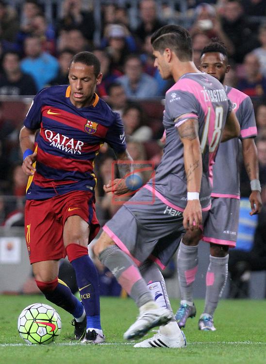 League BBVA 2015/2016 - Game: 8.<br /> FC Barcelona vs Rayo Vallecano: 5-2.<br /> Neymar vs Ze Castro.